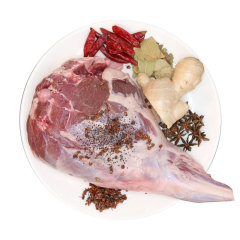 【京東伙伴計劃—僅限積分兌換】羔羊后腿 2kg/袋 燒烤食材 火鍋食材