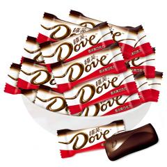 【京东伙伴计划—仅限积分兑换】德芙(Dove)德芙香浓黑巧克力 办公室休闲零食 散装500g