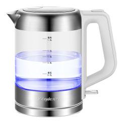 龙的(longde)304不锈钢时尚蓝光电热水壶  公司搞活动奖品