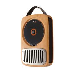 复古留声机音效CD系统 可壁挂牛皮提手 工艺礼品定制
