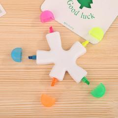 五色海星荧光笔 广告笔 展会礼品 促销礼品 公司商务实用定制LOGO