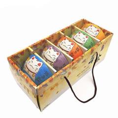 【招财猫系列】创意陶瓷碗五件套 年会小礼品 活动适用的伴手礼