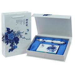 青花瓷商务礼品两件套 青花瓷笔+名片盒