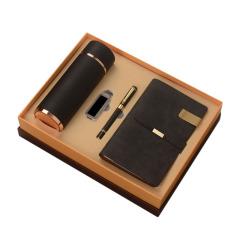 商务套装四件套 保温杯+U盘+签字笔+笔记本 中秋商务礼品