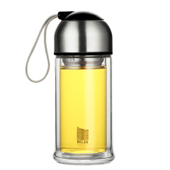 RELEA物生物大号COCO280ml双层水晶玻璃杯 精美礼袋保温防烫杯礼品定制