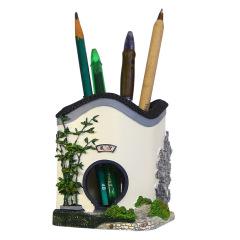 【園林筆筒】古建筑創意筆筒 原創收納實用擺件 地方特色禮品