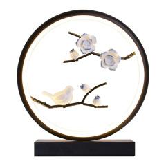 【一花一世界·艺术国风台灯】古典艺术中国风小夜灯 led卧室台灯 中秋节送什么好