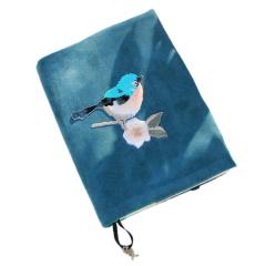 手工刺绣复古鸟笔记本 布艺立体手账本 个性创意礼品