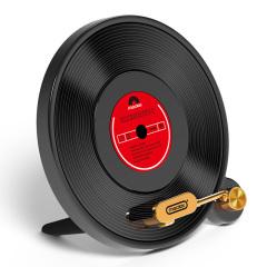 黑胶碟唱片机造型无线充电器 复古无线充 创意小礼品