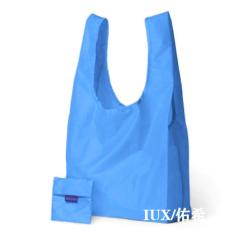 可折疊式寬口環保購物袋-天藍色 好看又實用的展會小禮品
