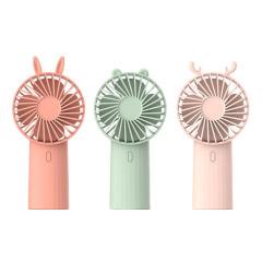 LOVELY DIY创意动物头箍可拆洗手持风扇 迷你USB风扇 大会送什么小礼品