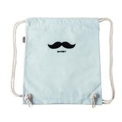 创意帆布抽带双肩背包 旅行收纳袋 韩版束口袋 - 大胡子