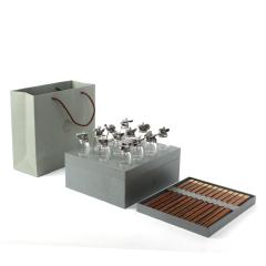 【红·席】十二生肖茅台酒杯筷子套装 十二双鸡翅木礼筷礼盒 高端商务礼品