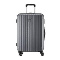 瑞动(SWISSMOBILITY)时尚竖条拉链行李箱 20寸登机箱 商务差旅拉杆箱 商务必备礼品