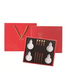 【福气】葫芦调味碟*4+福气筷*4 员工活动有哪些小礼品