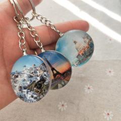 【来图定制】DIY个性定制水晶钥匙扣 旅游纪念品赠品