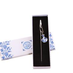 中国风链式青花瓷书签 精美小礼品 毕业礼 商务礼品