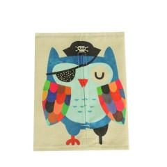 猫头鹰 创意布艺棉麻纸巾套 卡通纸巾抽 家用客厅抽纸袋 促销小礼品