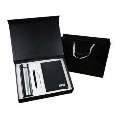 商務禮品 保溫杯+簽字筆+筆記本+書簽 四件套  單位年會紀念品