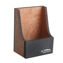复古木质手机支架 桌面懒人手机座 多功能置物盒收纳盒 商务小礼品