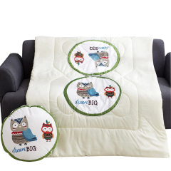 【卡通丛林系列】猫头鹰抱枕被 空调被 多功能被 午休靠枕 抱枕 员工礼品