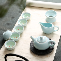 【杯中有魚】茶組禮盒 優質高檔青瓷茶具禮品禮盒套裝定制
