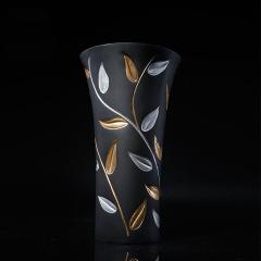 金乌炭雕 叶叶生辉瓶 活性炭雕工艺品 花瓶摆件
