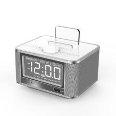 多功能手機架氣溫器藍牙鬧鐘音箱 360環繞立體音頻音響  送大客戶禮品 互聯網客戶禮品