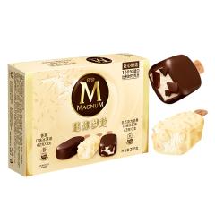 【京东伙伴计划—仅限积分兑换】迷你梦龙 香草口味+白巧克力坚果口味6支 冰淇淋家庭装