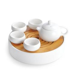 西施壶六件套 茶壶+茶杯+茶盘 宋代五大名窑 定窑茶具礼盒套装 公司过年送什么小礼品