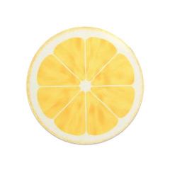 【柠檬】橡胶圆形鼠标垫 清晰印花底部防滑舒适 夏天需要的活动奖品