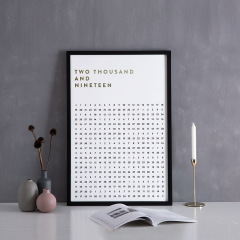 【TIME FLYS 逝去的日子】 设计师ELEKOO创意日历画框 挂饰台历定制 促销定制礼品