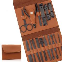 PU皮16件套指甲钳套装 多种功能多方位清洁方便携带 送客户什么礼品最实用