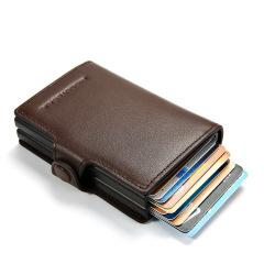 商務多功能真皮名片夾 高端商務禮品 活動獎品可以有哪些