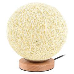 【米白色】藤木灯 创意麻木灯15cm 桌面摆件床头灯装饰 创意客户礼品