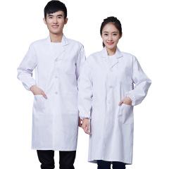 滌棉醫生工作服定制 醫用白大褂 醫用實驗室工作服 醫美醫療生物科技企業服裝