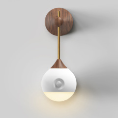 小明智能感应小夜灯 挂壁式人体感应灯可拆卸床头灯 家居必备礼品 适合餐厅做活动送的小礼品
