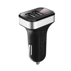 智能车载充电器带数显双USB充电器 车载礼品定制