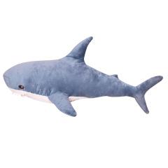 可爱鲨鱼公仔 沙发卧室毛绒玩具抱枕 创意周年庆礼品