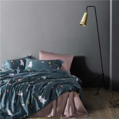 北欧风印花简约床上四件套 埃及长绒棉活性纯棉  家居礼品
