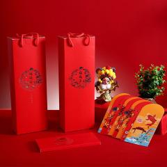 【万事如意】2020年春节大礼包 对联红包福字 春节送客户小礼品