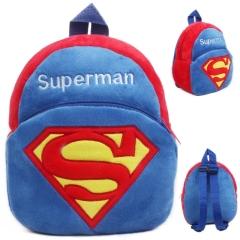 【超人】卡通儿童背包 水晶超柔毛绒料柔软舒适 可手洗机洗 针对儿童活动的促销礼品