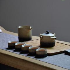 【墨宝】湖畔居 功夫茶具套装 返璞归真 一壶一海六杯组 茶具礼盒套装