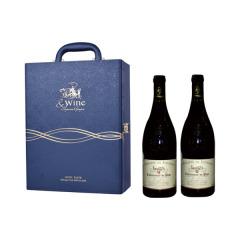 蓝色老爷车-双支皮盒装 新堡枫丹酒庄红葡萄酒礼盒红酒礼盒套装节日送礼礼盒 给客户送礼送什么