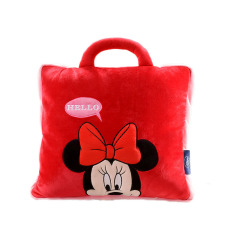 迪士尼(Disney)Hello米妮卡通抱枕被 多功能抱枕 午休枕 辦公室法蘭絨空調毯 工會活動紀念品
