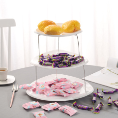 创意三层折叠果盘折叠设计收放自如果盘 宣传品小礼品有哪些