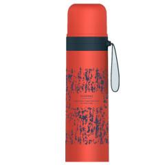 蒙特創意保溫杯藝術系硅膠提手便攜創意辦公室水杯 公司活動紀念品