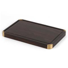 铜木拼文盘 独特工艺 礼盒包装 展会礼品