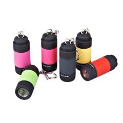 USB接口充电强光LED电筒 筒迷手电筒 钥匙扣便携式手电筒 展会礼品
