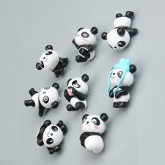 8款可爱熊猫一套 磁力冰箱贴耐摔耐用 促销礼品批发